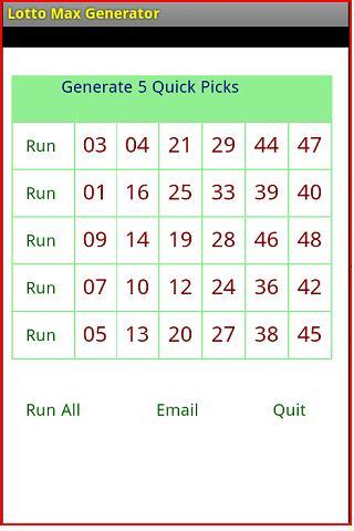 5 digit lottery combinations generator lotto