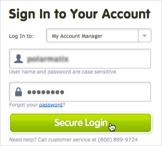 Secure Login button