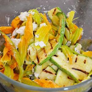 Zucchini Salad with Cream Cheese
