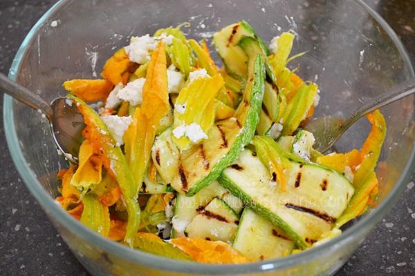 Zucchini Salad with Cream Cheese Recipe