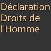 Déclaration droits de l'homme