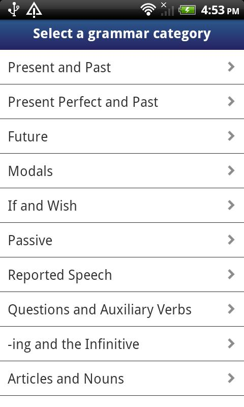 English Grammar in Use - screenshot