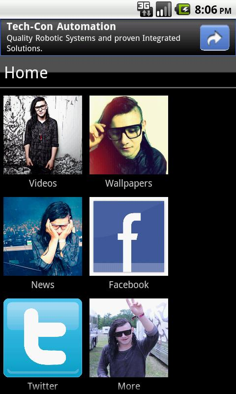 Skrillex Fan App - screenshot