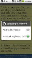 Screenshot of Network Keyboard IME