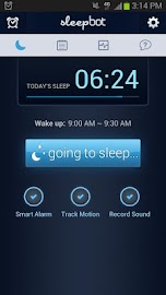SleepBot - Sleep Cycle Alarm Screenshot 1