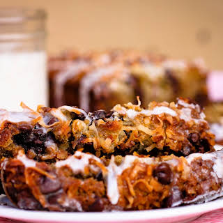 Peggy's Gluten Free Coconut Chocolate Chip Banana Bread with Sweet Drizzle.