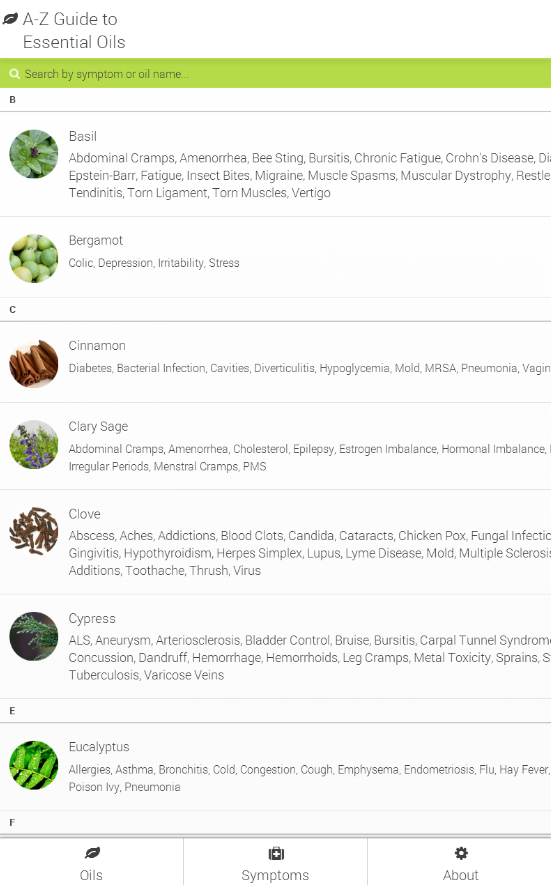 A-Z Guide to Essential Oils- screenshot