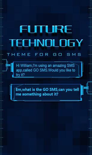GO SMS FUTURETECHNOLOGY THEME