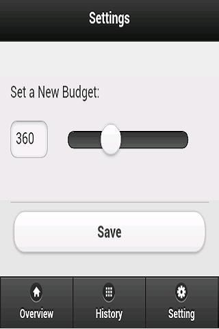 Weekly Budget- screenshot