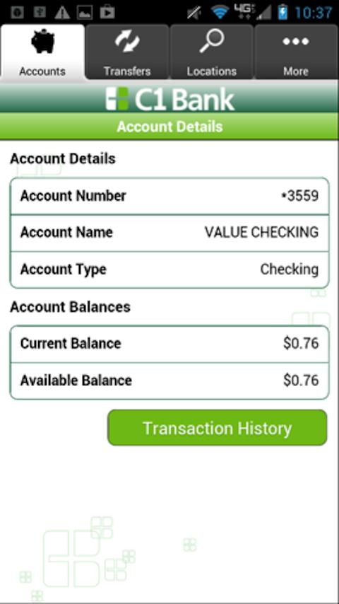 C1 Bank Mobile - screenshot
