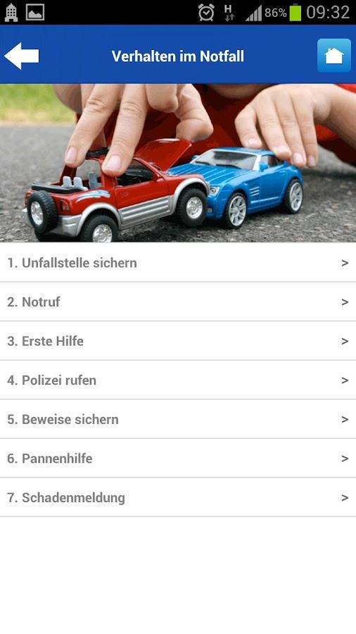 UNIQA Notfallservice - screenshot