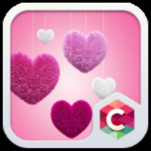 Fluffy Heart Pink Love Theme