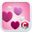 Fluffy Heart Pink Love Theme icon