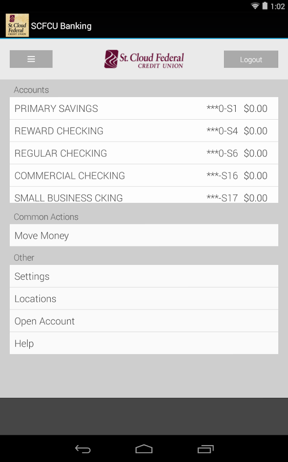 SCFCU Banking - screenshot