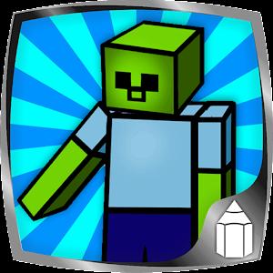如何绘制Minecraft 家庭片 App LOGO-硬是要APP