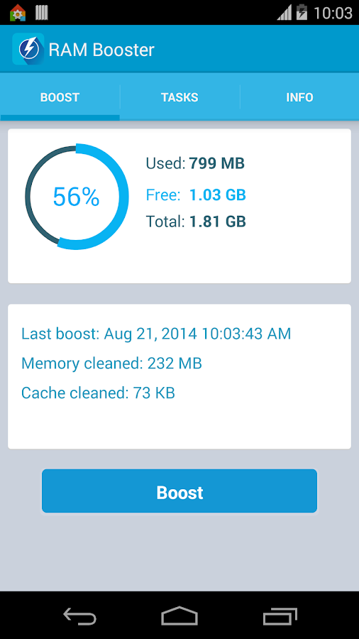 RAM Booster (Mem. Optimizer)- screenshot