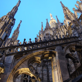 Scent of Evening (Milano, Italy) by Pipia Kanjeva - Buildings & Architecture Public & Historical ( #milano #italy #duomo #cathedral #rooftop,  )