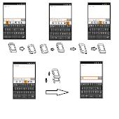 Chinese Tilting keyboard