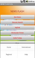 Screenshot of News Flash