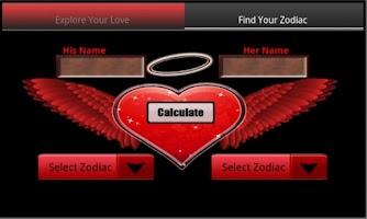 Screenshot of Love Calculator Zodiac