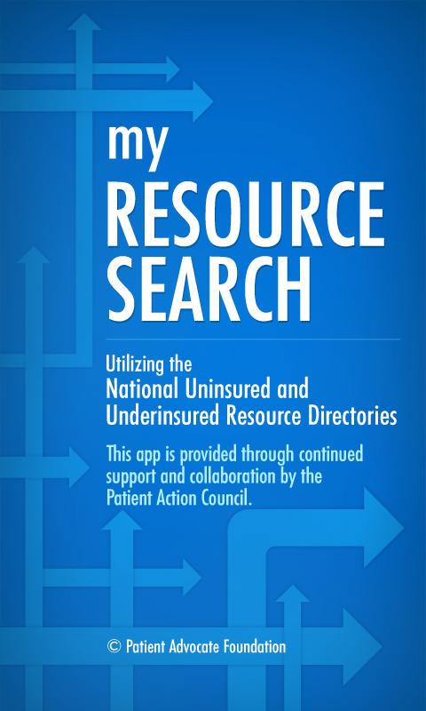 My Resource Search- screenshot