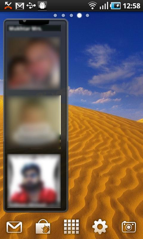 Photo Contacts Widget - screenshot