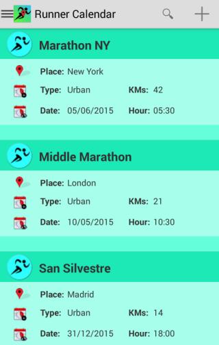 Runner Calendar Running