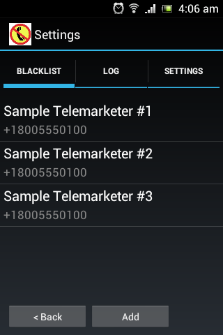Call Blocker Plus- screenshot