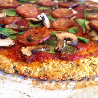 Cauliflower Pizza Crust (Paleo).