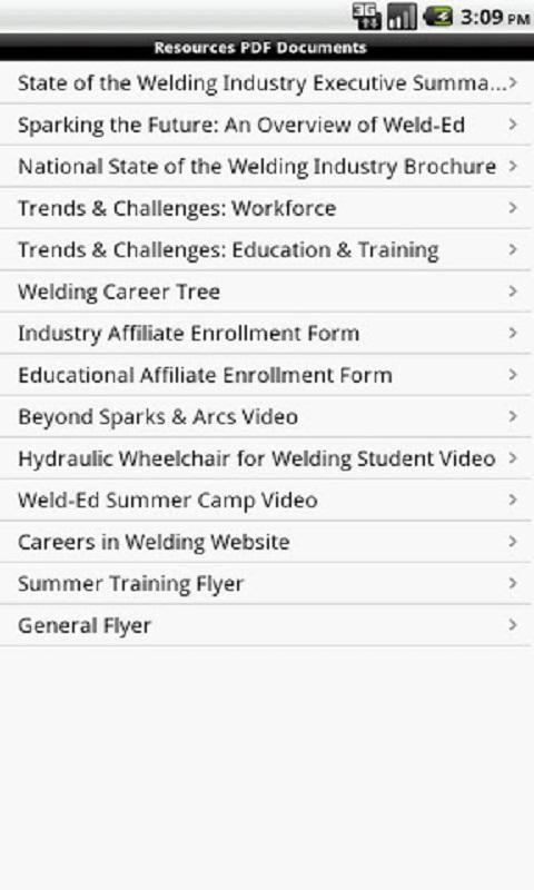 Welding Educators Resource - screenshot