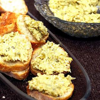 Artichoke-Olive Crostini.