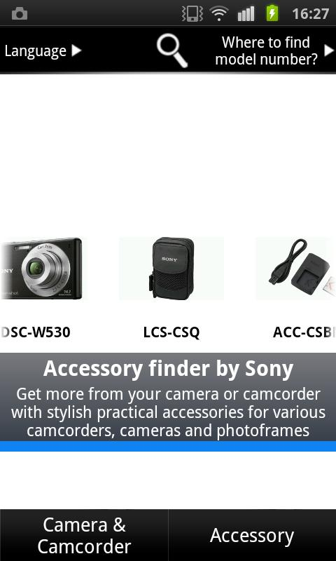 Accessory Finder by Sony - screenshot