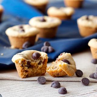 Mini Peanut Butter Chocolate Chip Cookie Cups