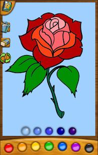 寶貝著色應用程序:花