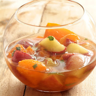 Apricots and White Peaches in Verbena Syrup