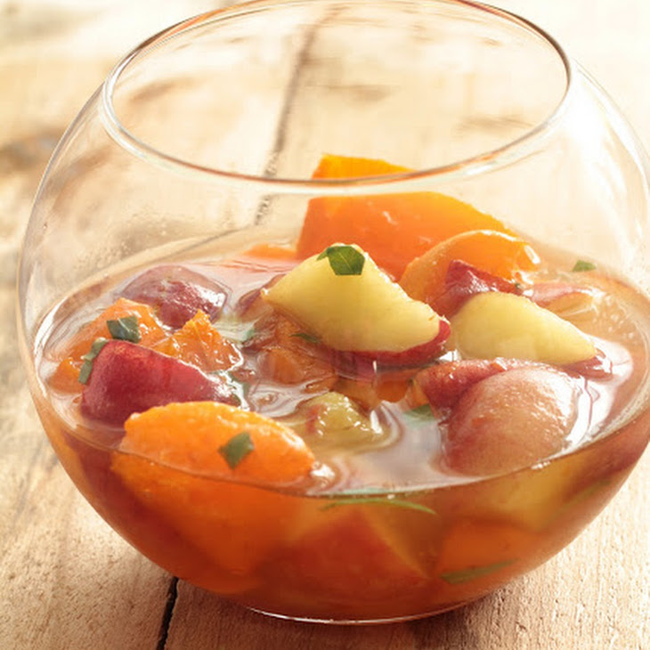 Apricots and White Peaches in Verbena Syrup Recipe