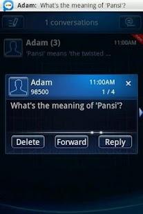 Easy SMS Blue Technology Theme screenshot