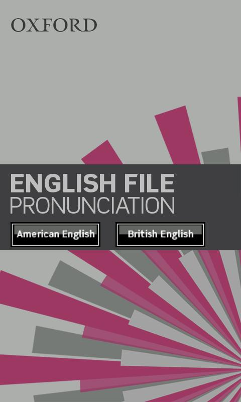 English File Pronunciation: captura de pantalla