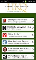Screenshot of Auto Accident App by HKQ Law