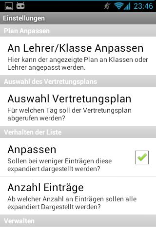 Vertretungsplan CZG Beta - screenshot
