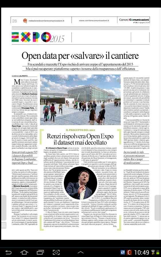 Corriere delle Comunicazioni - screenshot