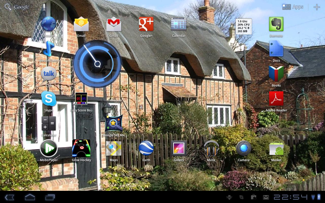 Thatched Cottages Wallpaper - screenshot