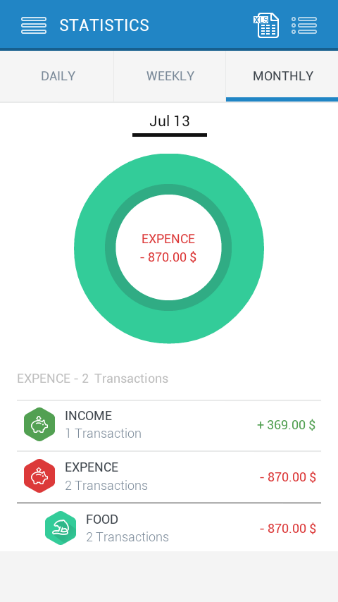 iExpense Diary - screenshot