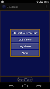 DroidTerm: USB Serial port- screenshot thumbnail