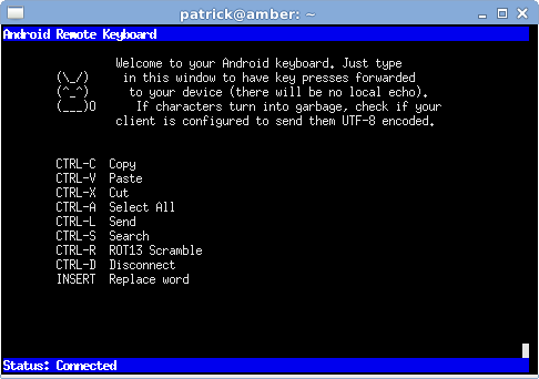 Remote Keyboard - screenshot