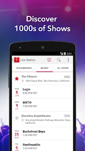 Live Nation – Concert Tickets- screenshot thumbnail