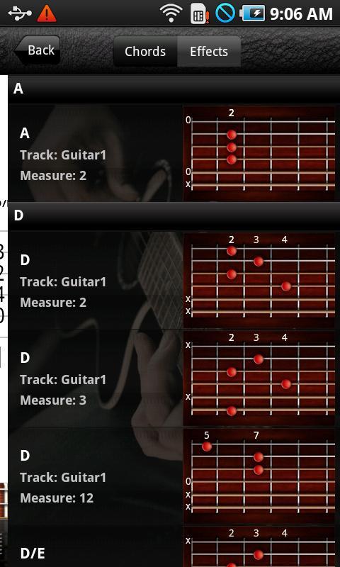 Pocket Jamz Guitar Tabs- screenshot