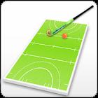 Field hockey coach's clipboard icon