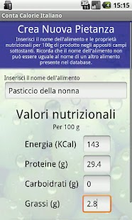 Conta Calorie Italiano DEMO- screenshot thumbnail