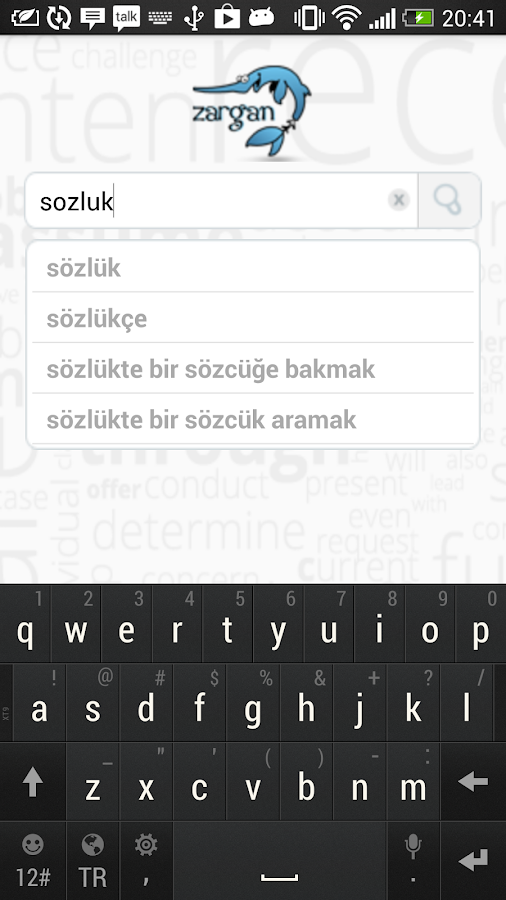 Zargan Turkish Dictionary- screenshot